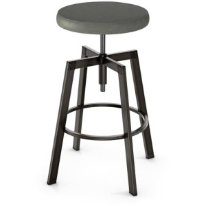 Architect Screw Stool - Upholstered Seat