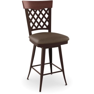 Wicker Counter Swivel Stool