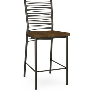 Crescent Counter Height Stool - Wood Seat