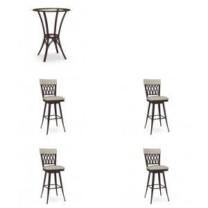 5PC Bar Height Pub Table Set