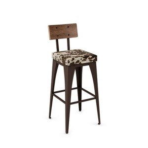 Upright Non-Swivel Stool, Cow