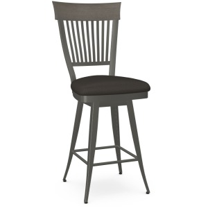 Annabelle Counter Swivel Stool - Upholstered Seat