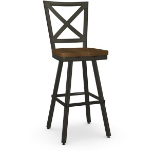 Kent Bar Height Swivel Stool - Wood Seat