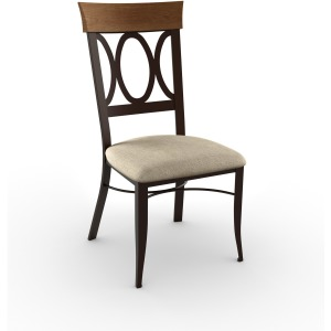 Cindy chair (upholstered seat and solid wood accent)