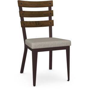 Dexter Chair - Oxidado & Shiitake - Wood Seat