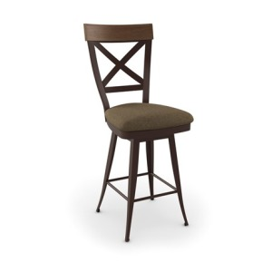 Kyle Bar Height Swivel Stool - Upholstered Seat