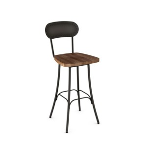 Bean Bar Height Swivel Stool - Wood Seat
