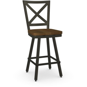 Kent Counter Swivel Stool - Wood Seat