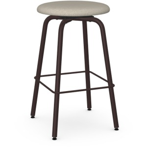 Button Counter Height Swivel Stool - Upholstered Seat