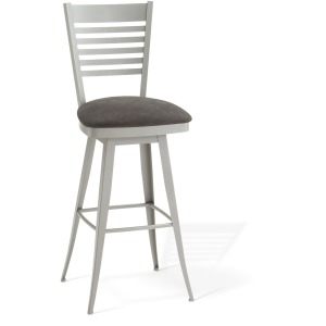 Edwin Swivel Bar Stool - Upholstered Seat