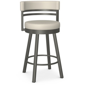 Ronny Counter Height Swivel Stool - Metallo & Oyster