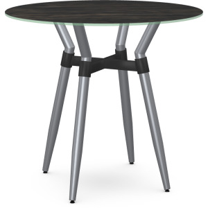 Link Counter Height Pub Table w/Italian Porcelain on Glass Table Top