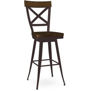 Kyle Bar Height Swivel Stool - Wood Seat