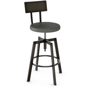 Architect Screw Stool - Upholstered Seat