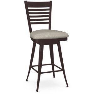 Edwin Swivel Counter Stool - Upholstered Seat