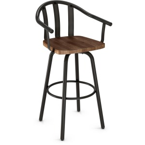 Gatlin Swivel Counter Stool - Wood Seat