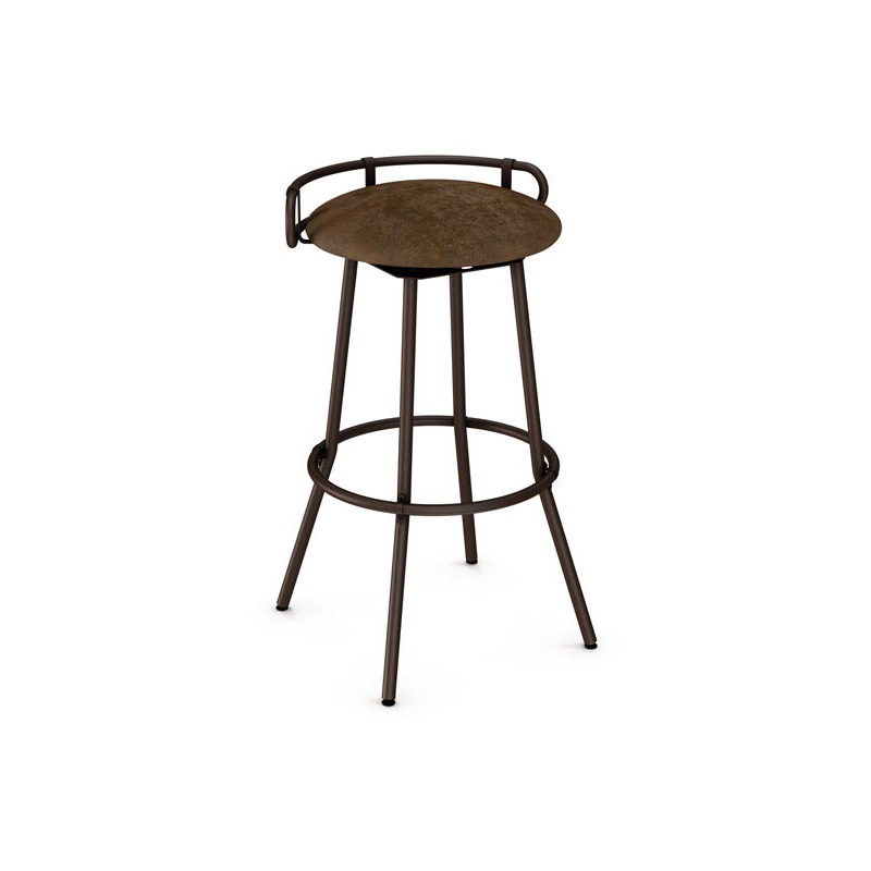 Outstanding Bluffton Swivel Stool With Backrest By Amisco 41565 Gmtry Best Dining Table And Chair Ideas Images Gmtryco