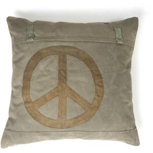 Peace Cotton Canvas Euro Sham