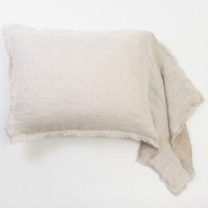 Kent King Linen Sham - White/Natural