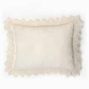 Camilla Lace Linen Standard Sham - Ivory