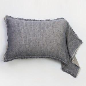 Kent Linen Standard Sham - Indigo/Natural