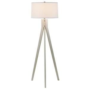 "58"" Floor Lamp - Weathered White"