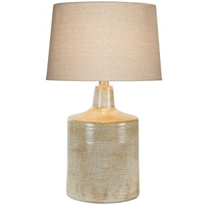 "28"" Table Lamp - Hydrocal / White Oak"