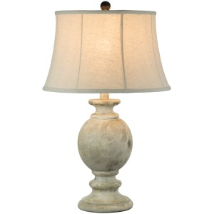 "29"" Table Lamp - Hydrocal / Beige Frost"