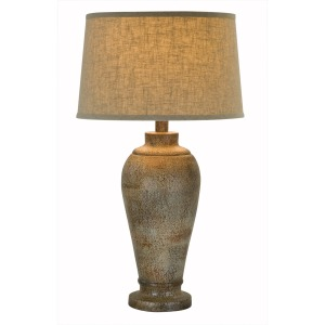"33"" Table Lamp - Hydrocal / Stone Gold"