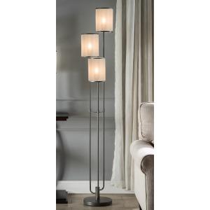 "66"" Floor Lamp - Metal Taupe"