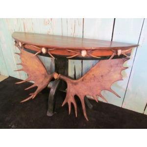 Half Moon Moose Console Table