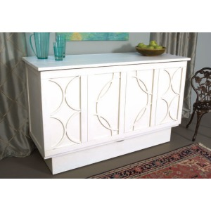 Brussels Queen Cabinet Bed - White