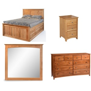 Alder Shaker 4PC Queen Panel Bedroom Set