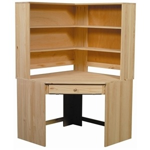 Pine Modular Corner Hutch Only