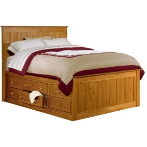 Alder Queen Shaker Chest Bed with 9 Drawers