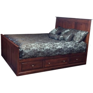 Alder Shaker Queen Storage Bed