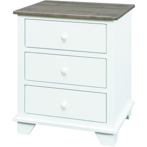 Portland 3 Drawer Nightstand