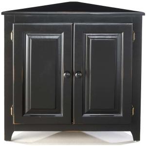 Pine Corner Cabinet W/ Doors