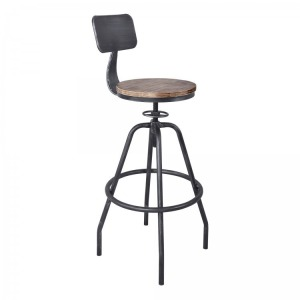 Perlo Industrial Adjustable Barstool in Industrial Grey