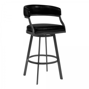 "Saturn 26"" Counter Height Barstool in Mineral Finish"