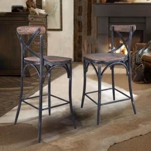 "Sloan Industrial 26"" Counter Height Barstool"