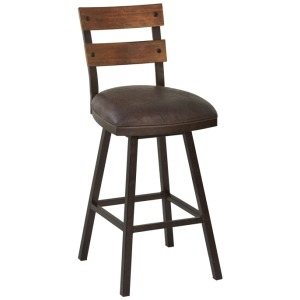 "Saugus 26"" Counter Height Metal Swivel Barstool"