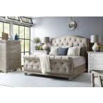 Shoals 6/6 Uph Tufted Sleigh HB