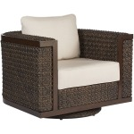 Brentwood Wicker Swivel Rocking Club Chair
