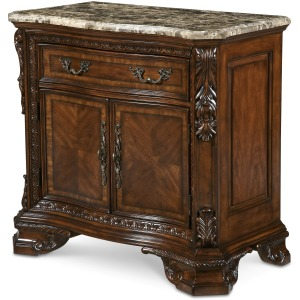 Stone Top Door Nightstand
