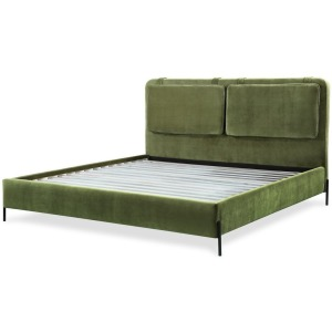 Kirkeby Cal King Uphosltered Bed - Moss