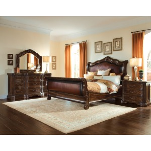 6/0 Uph. Sleigh Bed