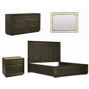 Woodright 4 PC King Panel Bedroom Set
