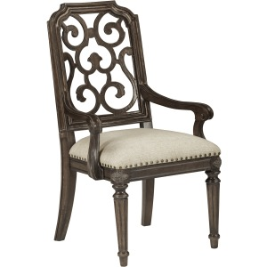 Tristan Fret Back Arm Chair