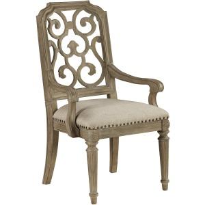 Tristan Fret Back Arm Chair